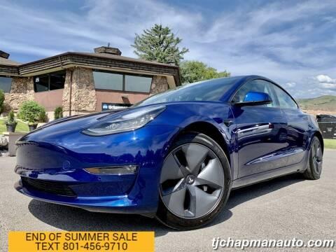 2020 Tesla Model 3 for sale at TJ Chapman Auto in Salt Lake City UT