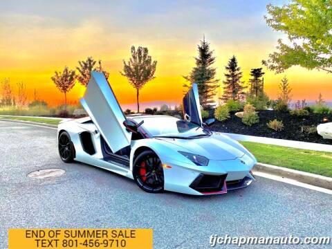 2016 Lamborghini Aventador for sale at TJ Chapman Auto in Salt Lake City UT
