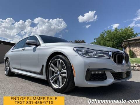 2018 BMW 7 Series for sale at TJ Chapman Auto in Salt Lake City UT