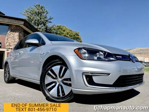 2016 Volkswagen e-Golf for sale at TJ Chapman Auto in Salt Lake City UT