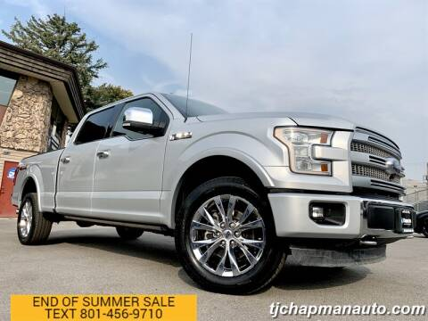 2016 Ford F-150 for sale at TJ Chapman Auto in Salt Lake City UT