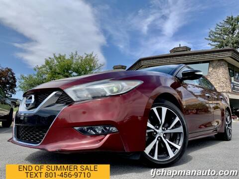2016 Nissan Maxima for sale at TJ Chapman Auto in Salt Lake City UT