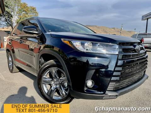 2019 Toyota Highlander for sale at TJ Chapman Auto in Salt Lake City UT