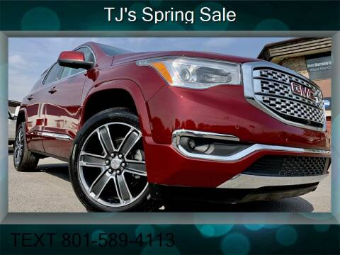 2018 GMC Acadia for sale at TJ Chapman Auto in Salt Lake City UT