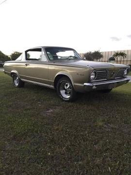 1966 Plymouth Barracuda for sale in Cadillac, MI