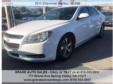 2011 Chevrolet Malibu for sale at GRAND AUTO SALES - CALL or TEXT us at 619-503-3657 in Spring Valley CA