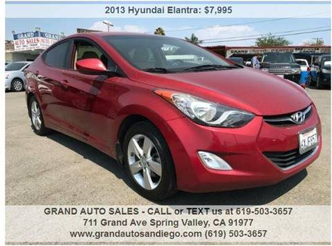 2013 Hyundai Elantra for sale at GRAND AUTO SALES - CALL or TEXT us at 619-503-3657 in Spring Valley CA