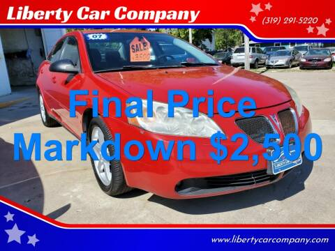 2007 Pontiac G6 for sale at Liberty Car Company in Waterloo IA