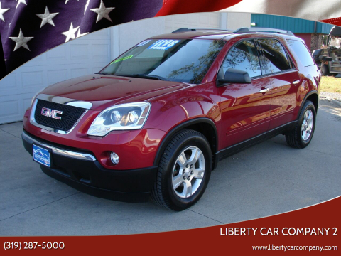 2012 GMC Acadia for sale at Liberty Car Company - II in Waterloo IA