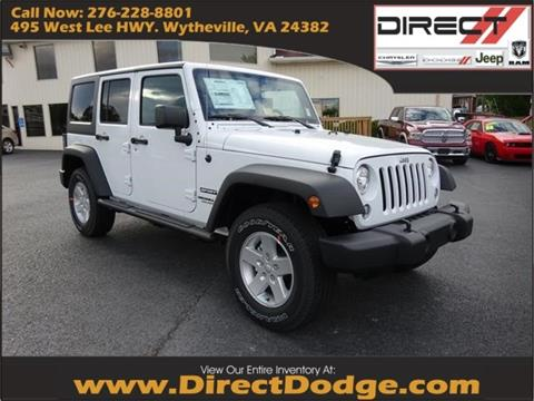 2017 Jeep Wrangler Unlimited for sale in Wytheville, VA