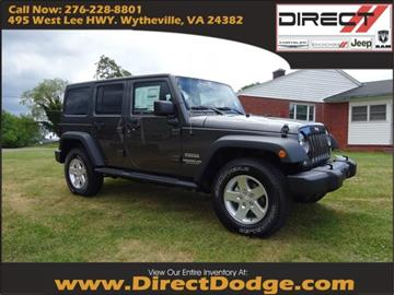 2016 Jeep Wrangler Unlimited for sale in Wytheville, VA