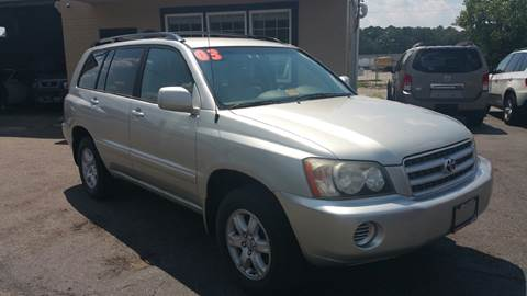 2003 Toyota Highlander for sale at Copa Mundo Auto in Richmond VA