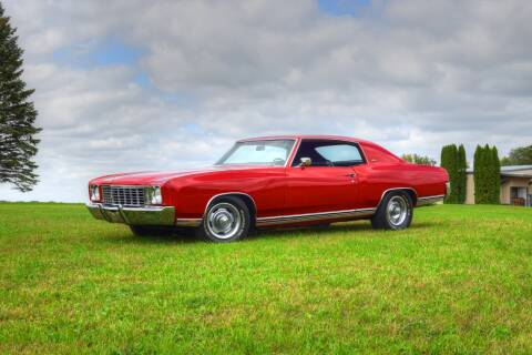 1972 1972 Monte Carlo for sale at Hooked On Classics in Watertown MN