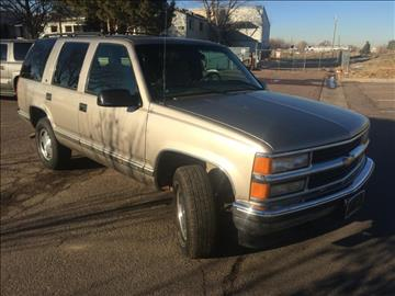 1999 Chevrolet Tahoe for sale at Rods Cars Inc. in Denver CO