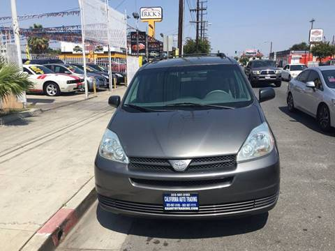 2004 Toyota Sienna for sale at California Auto Trading in Bell CA