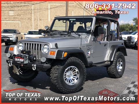 2000 Jeep Wrangler for sale in Amarillo, TX