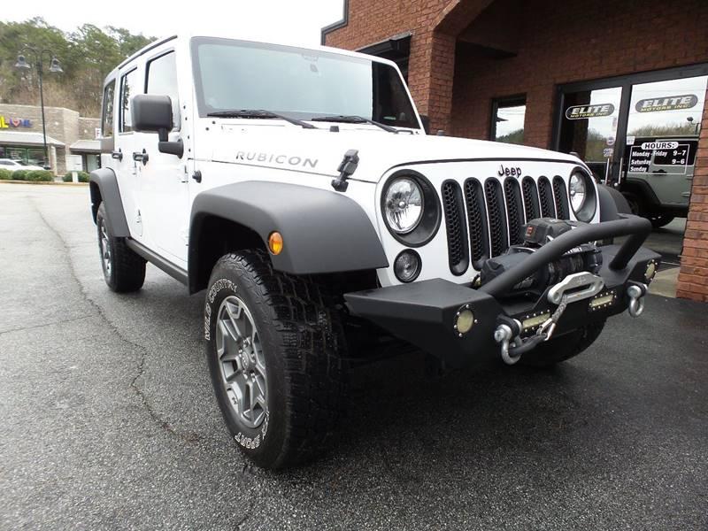 2014 Jeep Wrangler Unlimited Rubicon In Cartersville Ga Elite Jeeps