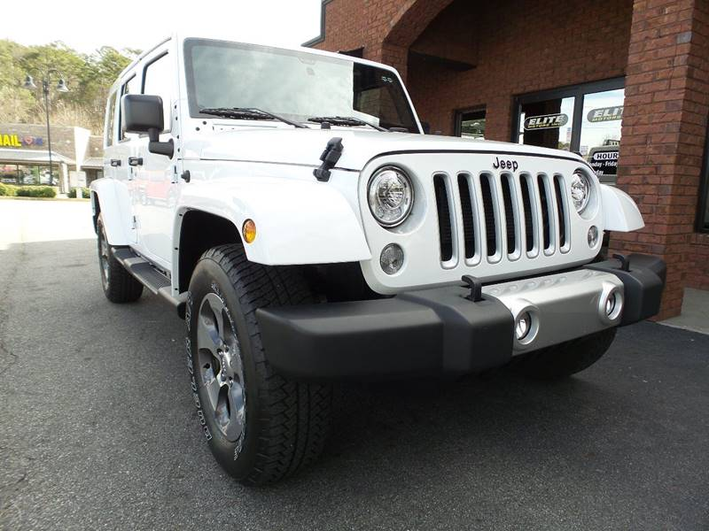 2017 Jeep Wrangler Unlimited Sahara In Cartersville Ga Elite Jeeps