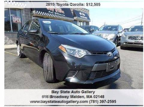 2015 Toyota Corolla for sale at Bay State Auto Gallery in Malden MA