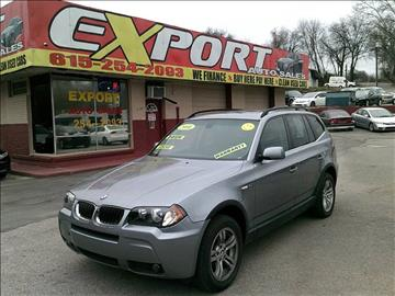 2006 BMW X3 for sale at EXPORT AUTO SALES, INC. in Nashville TN