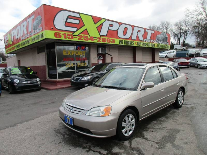 2002 Honda Civic for sale at EXPORT AUTO SALES, INC. in Nashville TN