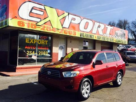 2008 Toyota Highlander for sale at EXPORT AUTO SALES, INC. in Nashville TN