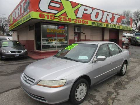 2002 Honda Accord for sale at EXPORT AUTO SALES, INC. in Nashville TN