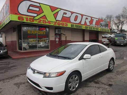 2007 Honda Civic for sale at EXPORT AUTO SALES, INC. in Nashville TN