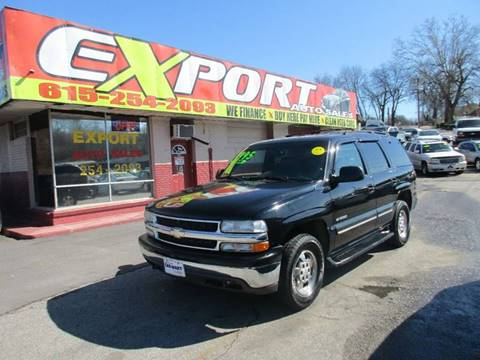 2000 Chevrolet Tahoe for sale at EXPORT AUTO SALES, INC. in Nashville TN