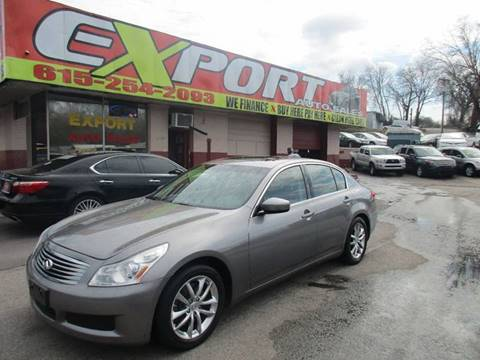 2009 Infiniti G37 Sedan for sale at EXPORT AUTO SALES, INC. in Nashville TN