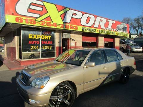 2002 Lexus LS 430 for sale at EXPORT AUTO SALES, INC. in Nashville TN