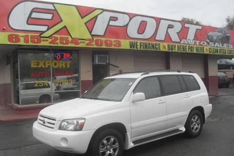 2005 Toyota Highlander for sale at EXPORT AUTO SALES, INC. in Nashville TN