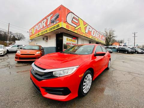 2017 Honda Civic for sale at EXPORT AUTO SALES, INC. in Nashville TN