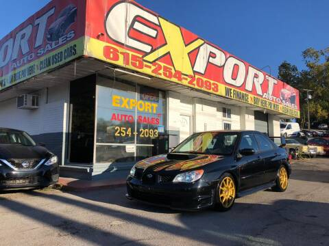 2007 Subaru Impreza for sale at EXPORT AUTO SALES, INC. in Nashville TN