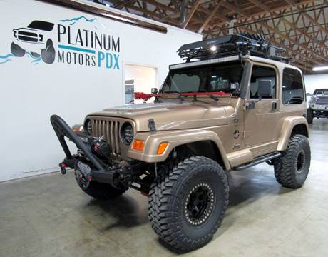 2000 Jeep Wrangler for sale at Platinum Motors in Portland OR