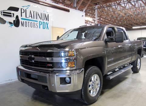 2015 Chevrolet Silverado 2500HD for sale at Platinum Motors in Portland OR