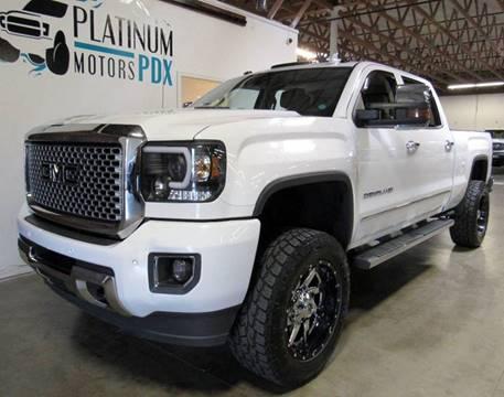 2015 GMC Sierra 2500HD for sale at Platinum Motors in Portland OR