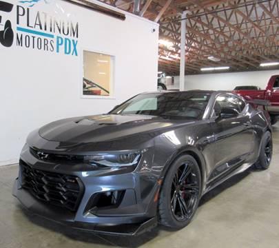 2018 Chevrolet Camaro for sale at Platinum Motors in Portland OR