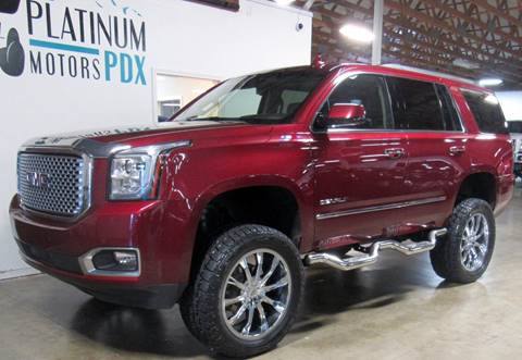 2016 GMC Yukon for sale at Platinum Motors in Portland OR