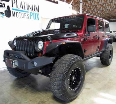 2013 Jeep Wrangler Unlimited for sale at Platinum Motors in Portland OR