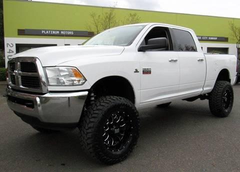 2012 RAM Ram Pickup 2500 for sale at Platinum Motors in Portland OR