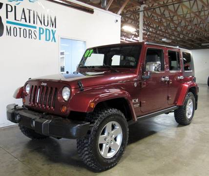 2007 Jeep Wrangler Unlimited for sale at Platinum Motors in Portland OR