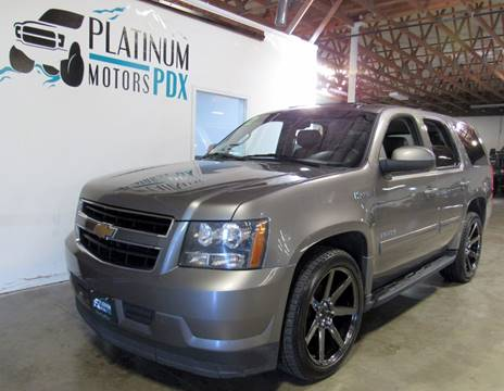 2012 Chevrolet Tahoe Hybrid for sale at Platinum Motors in Portland OR