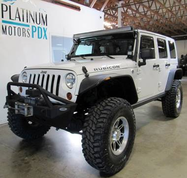 2012 Jeep Wrangler Unlimited for sale at Platinum Motors in Portland OR