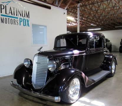 1934 Chevrolet 3 window for sale at Platinum Motors in Portland OR