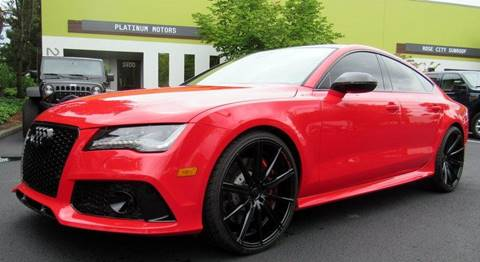 2014 Audi RS 7 for sale at Platinum Motors in Portland OR