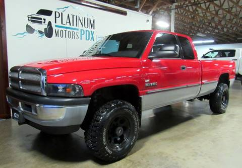 1999 Dodge Ram Pickup 2500 for sale at Platinum Motors in Portland OR