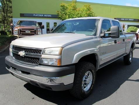 2006 Chevrolet Silverado 2500HD for sale at Platinum Motors in Portland OR