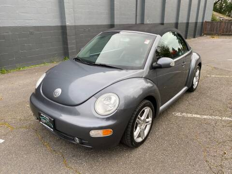 2005 Volkswagen New Beetle Convertible for sale at APX Auto Brokers in Lynnwood WA