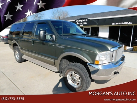 2002 Ford Excursion Limited for sale at Morgan's Auto Inc in Paoli IN